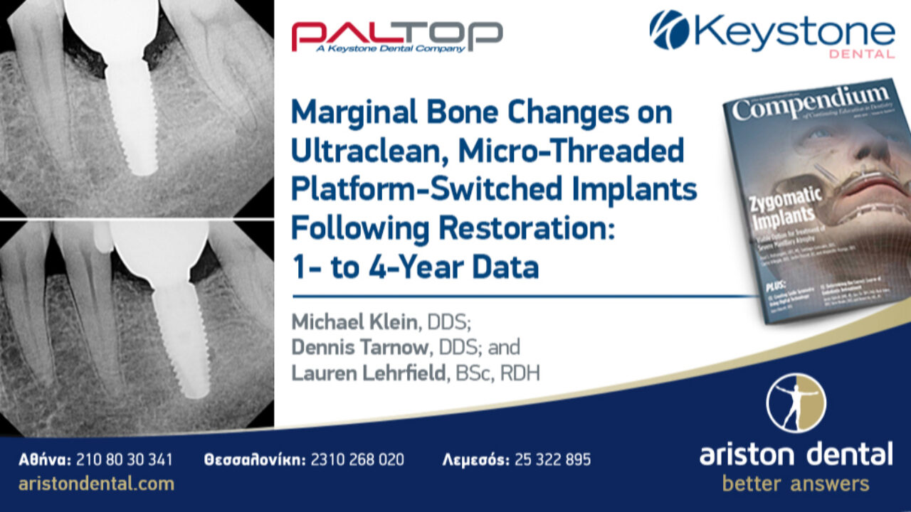 Marginal Bone Changes on Ultraclean, Micro-Threaded Platform-Switched Implants Following Restoration: 1- to 4-Year Data