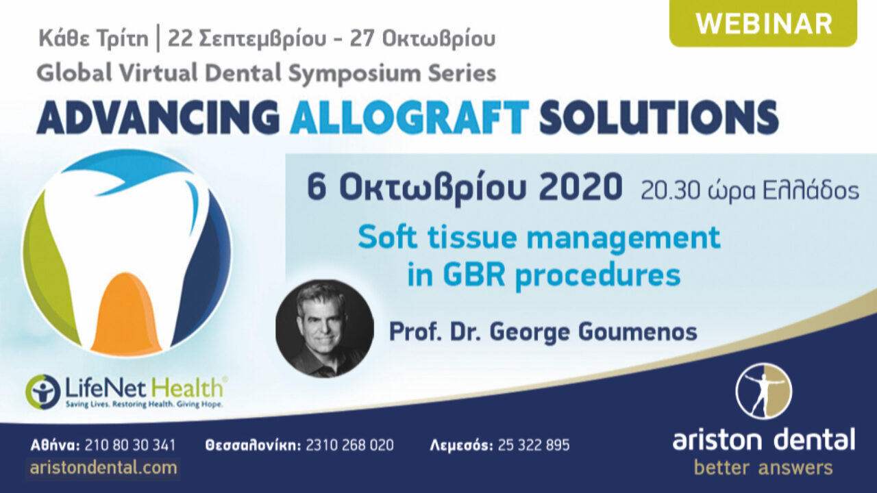 """Soft tissue management in GBR procedures"" - Prof. Dr. George Goumenos"