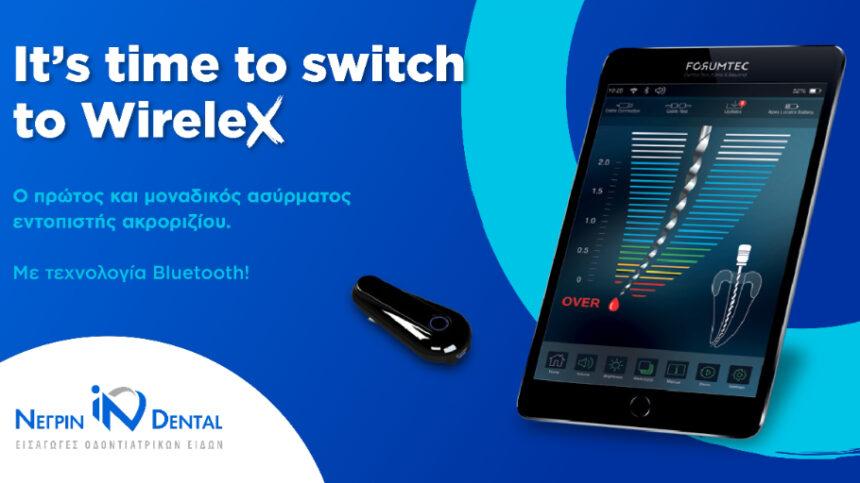 WireleX, ασύρματος εντοπιστής ακροριζίου της ForumTec | NΕΓΡΙΝ ΙΝ Dental