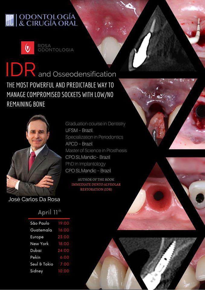 IDR & Osseodensification WEBINAR - AMEΣΗΟΔΟΝΤΟΦΑΤΝΙΑΚΗ ΑΠΟΚΑΤΑΣΤΑΣΗ