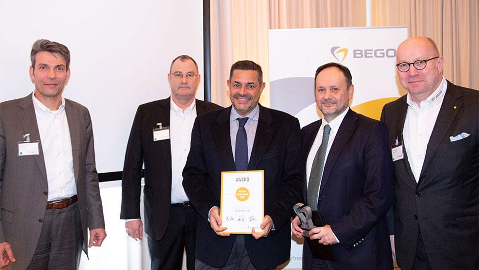"""Η ESTETIKA Ε.Π.Ε., αντιπρόσωπος της BEGO στην Ελλάδα, κέρδισε το φετινό βραβείο Wilhelm-Herbst """"best sales performance 2019 for BEGO Dental""""."""